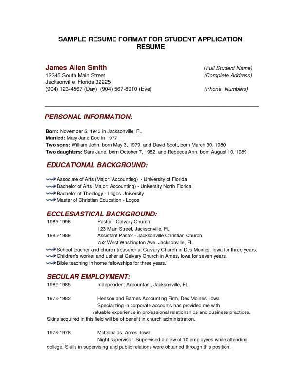 Free Basic Resume Templates Download Resume Examples Pinterest
