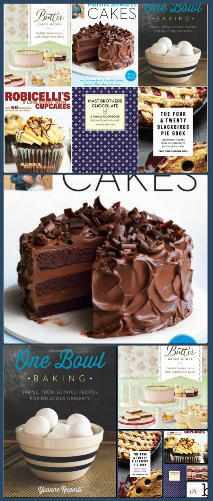 Bake or Break | Weekly Mix: My Cookbook Wish List [Collage made with one click using http://pagecollage.com] #pagecollage