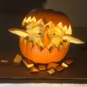 Darby is a 3D Pumpkin Carving by Theressa Wright
