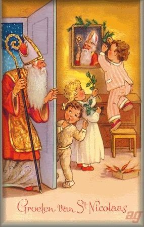 Antique St. Nicholas postcard.