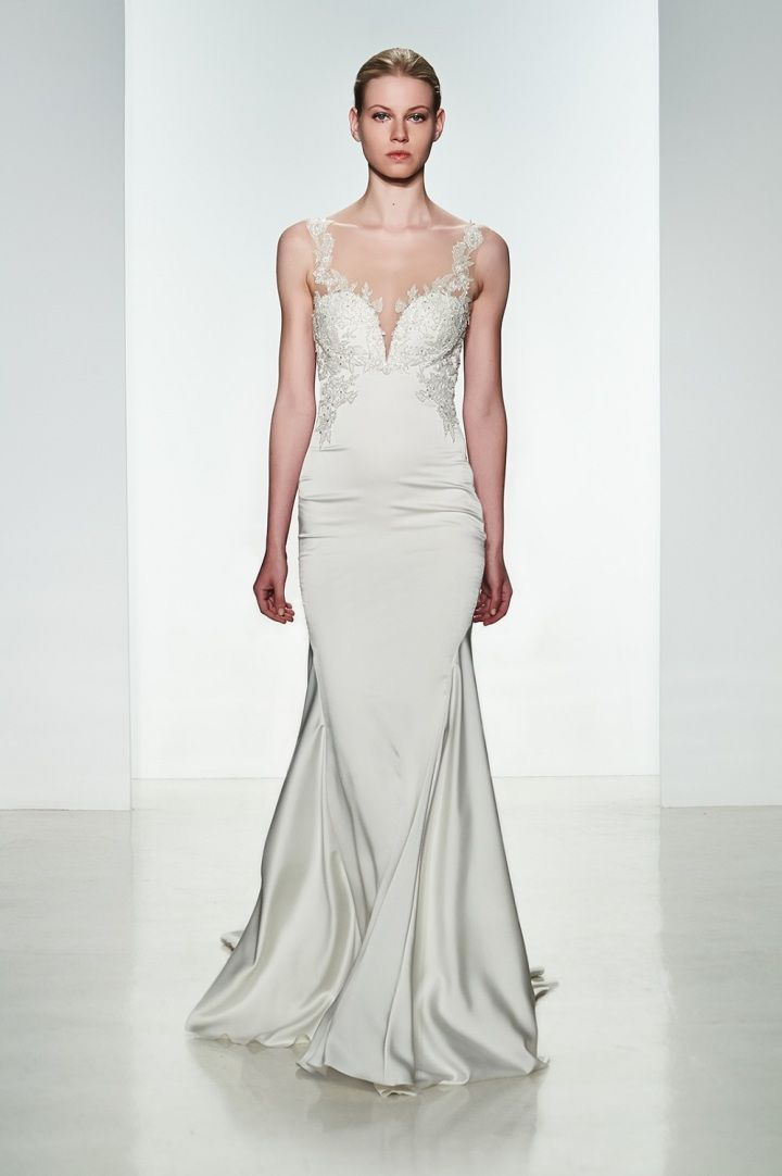 To see more gorgeous Kenneth Pool wedding dresses: http://www.modwedding.com/2014/11/17/kenneth-pool-wedding-dresses-with-ultimate-femininity/ #wedding #weddings #wedding_dress