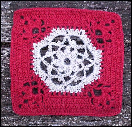 """Day 31: 12"""" Block of the Day - Victorian Dream Square by Cindy Arman Free Pattern: http://www.crochetpatterncentral.com/patterns/victorian_dream_square.php  May 2013 #TheCrochetLounge #12""""Square Pick"""