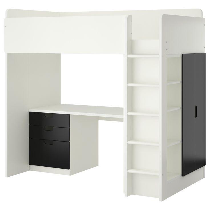 stuva hochbettkomb 3 schubl 2 t ren wei jetzt. Black Bedroom Furniture Sets. Home Design Ideas