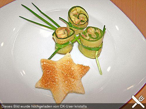 Zucchini - Räucherlachs - Röllchen (Rezept mit Bild) | Chefkoch.de