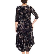 Buy Chesca Velvet Devoree Dress, Black/Oyster Online at johnlewis.com