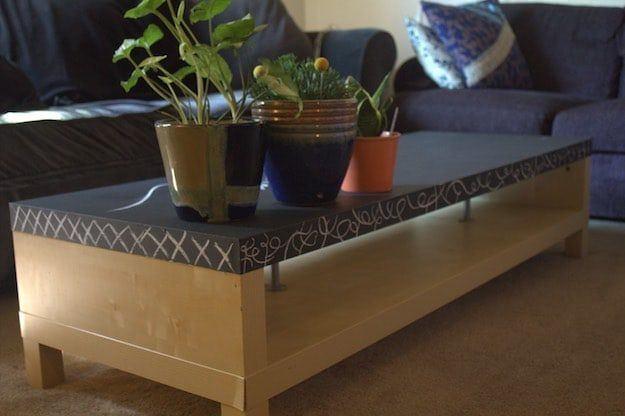 Chalkboard Coffee Table | Chalk Paint Ideas for Rustic Home Decor