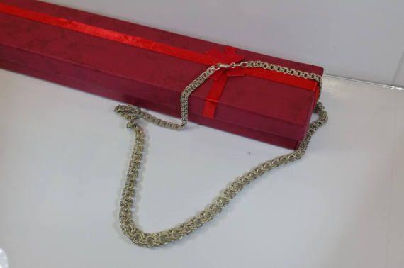 Halskette Silber Gliederkette FBM Vintage alt von Schmuckbaron