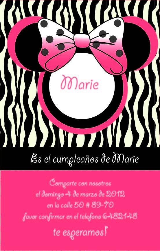 tarjeta de invitacion para cumpleaños de niña