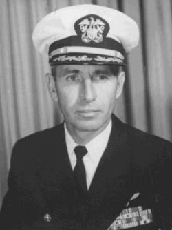 "Jim Morrison's father, George Morrison. United States Navy Rear Admiral. He was a career United States Navy officer whom was largely over shadowed by his son, Jim Morrison of the 1960s rock group ""The Doors"". He graduated from the United States Naval Academy at Annapolis, Maryland in 1942, was commissioned an Ensign and served in the Pacific Theater for the duration of World War II.  In 1990, Admiral Morrison visited his son's grave in Paris and had a plaque installed."