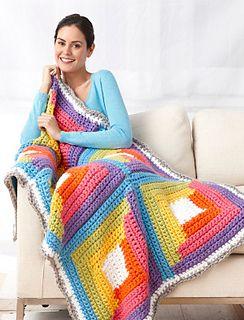 Crochet log cabin <3