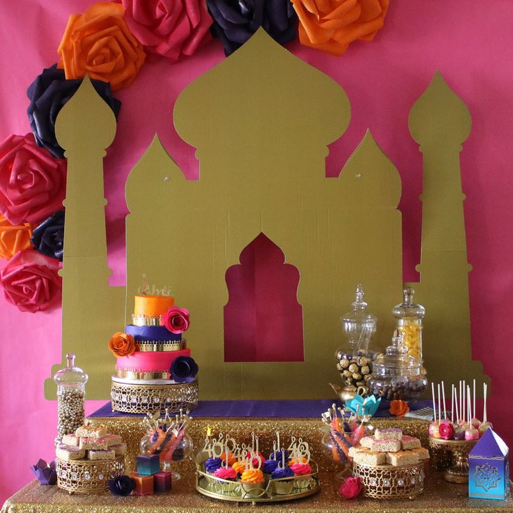 Diy Arabian Nights Dessert Table Backdrop In 2019