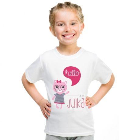 Koszulka personalizowana dziecięca HELLO - GIRL