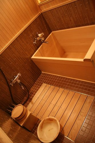 o furo,a typical wooden Japanese bath                                                                                                                                                                                 More