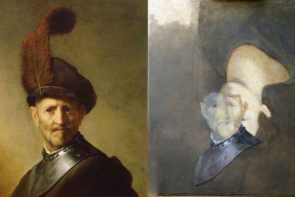 Las obras maestras ocultas debajo de las pinturas, así se veía antes