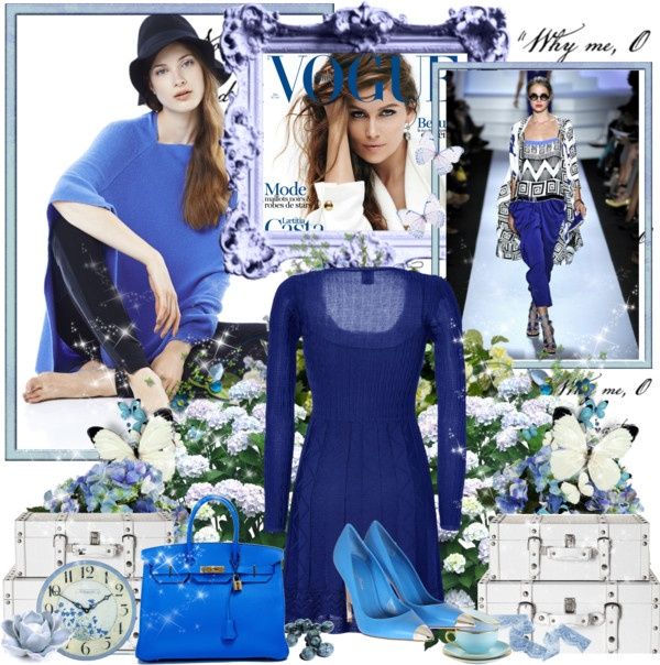 """""""In the blue."""" by sindhi on Polyvore"""
