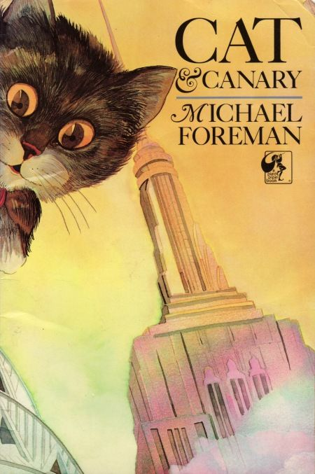 """""""Cat and Canary"""", written and illustrated by Michael Foreman, Andersen Press (1984) - Front cover"""