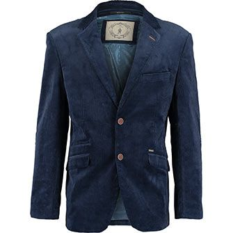 Navy Corduroy Tailored Fit Blazer