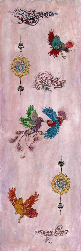 Birds ...minyature....illimination