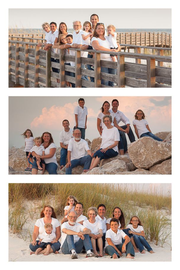 Multi-generational family beach portraits Orange Beach, AL Family Portrait Sessi… – Finding Beauty in the Ordinary Photography