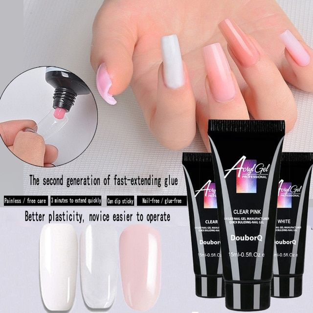 15ml Nail Extend Builder Poly Gel Remover Slip Solution Nail Art Design Acrylic French Nail Tip Gum Jelly Poly Gel Slip Review With Images Gel Remover Gel Nails Nail Art Hacks