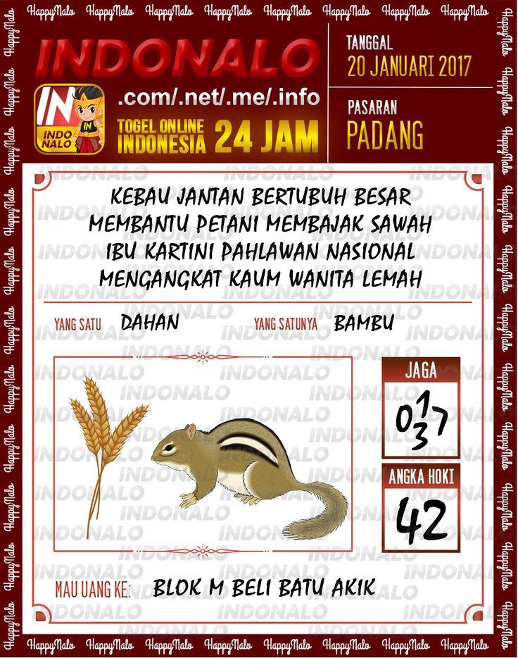 Nomer Hoki 4D Togel Wap Online Live Draw 4D Indonalo Padang 20 Januari 2017