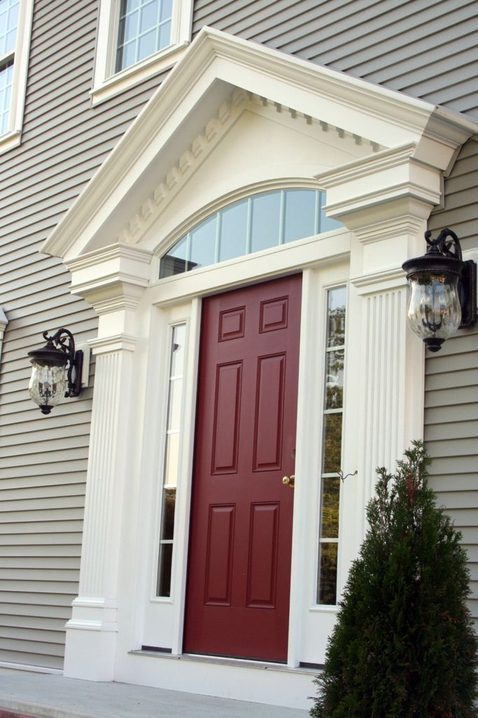 Cellular PVC Trim  The Durable Aesthetic Option  Making your front door a  statement piece on the house Best 25  Exterior door trim ideas on Pinterest   Red front doors  . Exterior Garage Door Trim Kit. Home Design Ideas