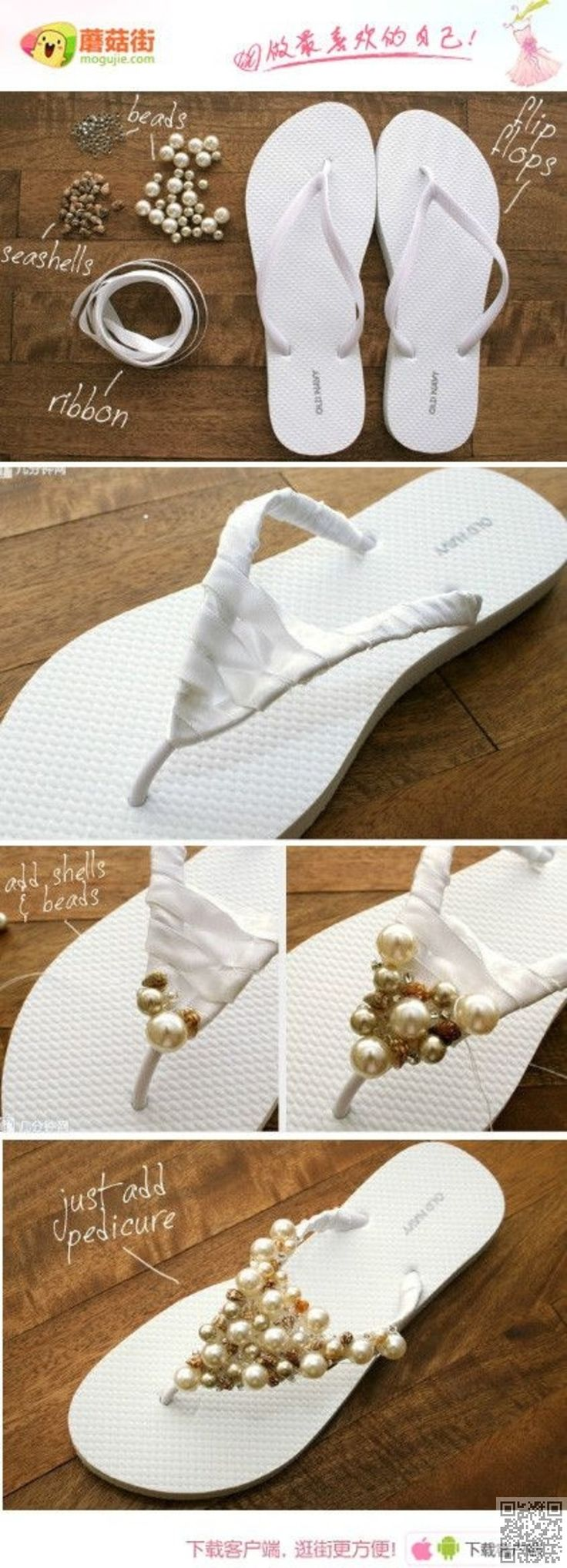 2. #Bling Flip Flops - 31 Shoe #Makeover Projects for the Best #Dressed Feet in…