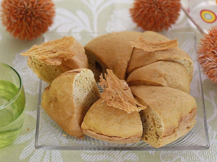 Рецепт: Бездрожжевой тыквенный хлеб с пряностями в мультиварке