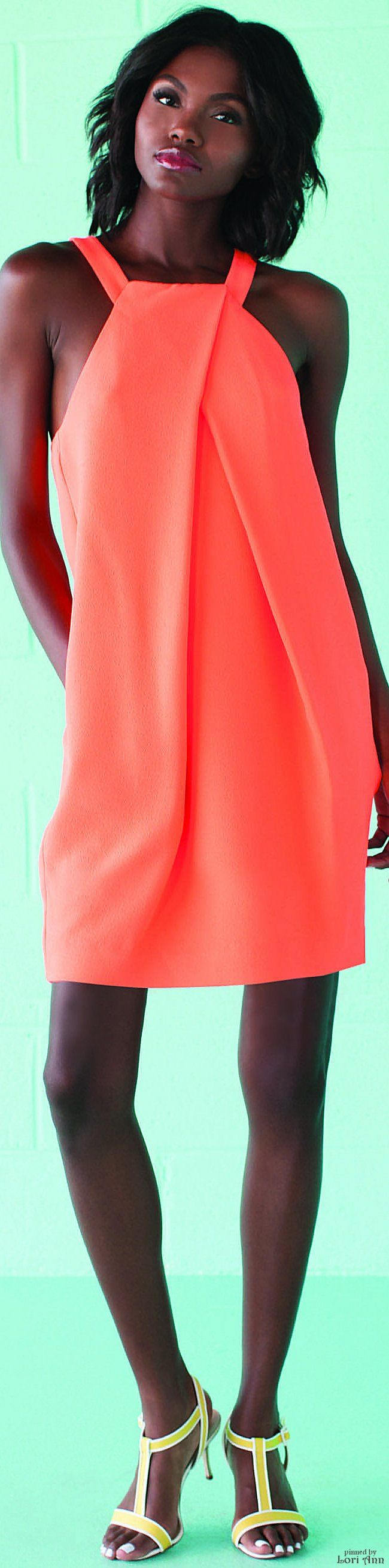 Trina Turk Spring 2016 RTW coral summer dress women fashion outfit clothing style apparel @roressclothes closet ideas