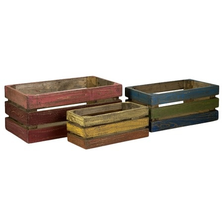 Dawson Crate Set. This would be easy to paint produce crates from the market and create a similar look!