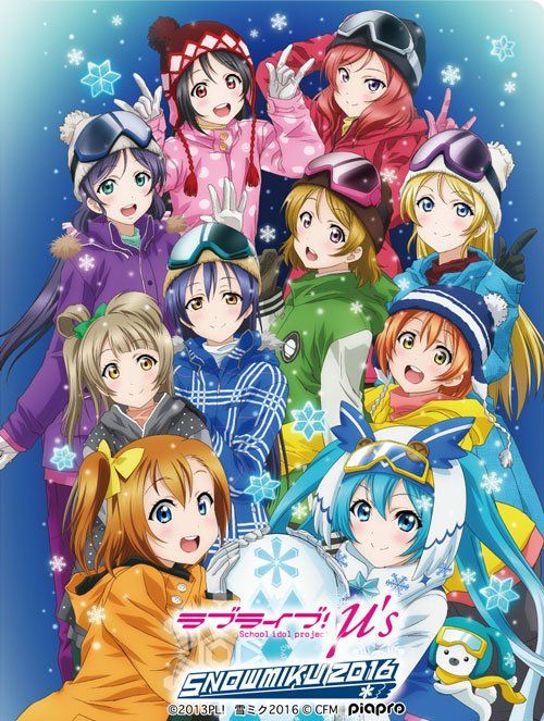 Love Live and Snow Miku 2016 collaboration