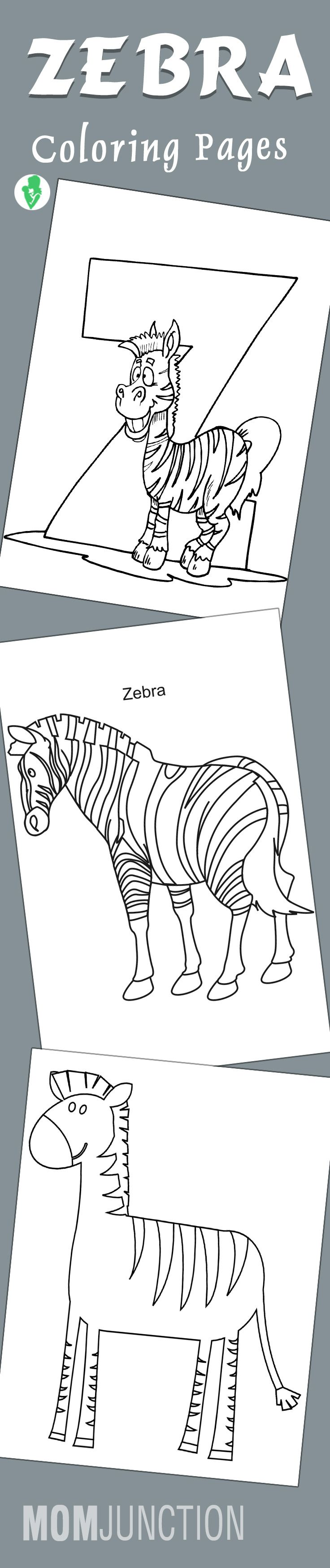 Top 20 Free Printable Zebra Coloring