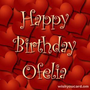 Happy Birthday, Ofelia!