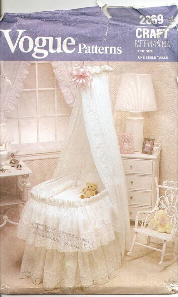 Vintage Bassinet Accessories Vogue Pattern 2869 by CuttingBack