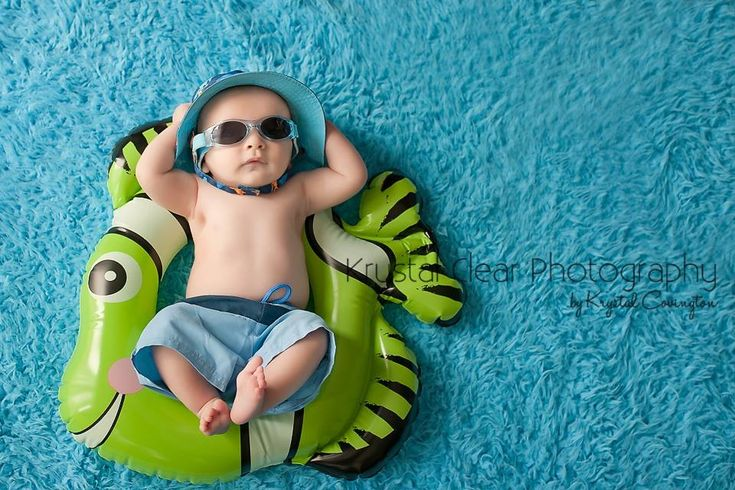 #krystalclearphotography baby boy three month old summer baby ocean pool