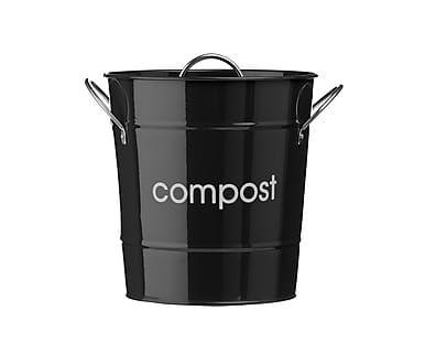 Контейнер для пищевых отходов - оцинкованная сталь, Ø19х20 см