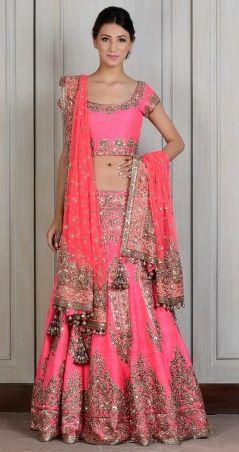 Manish malhotra 2014 pink bridal lehenga