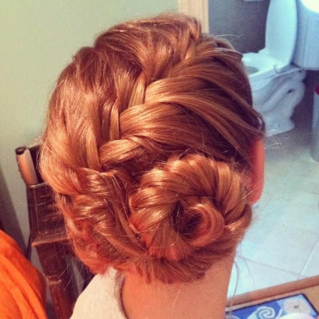 conch shell braid updo hairstyle