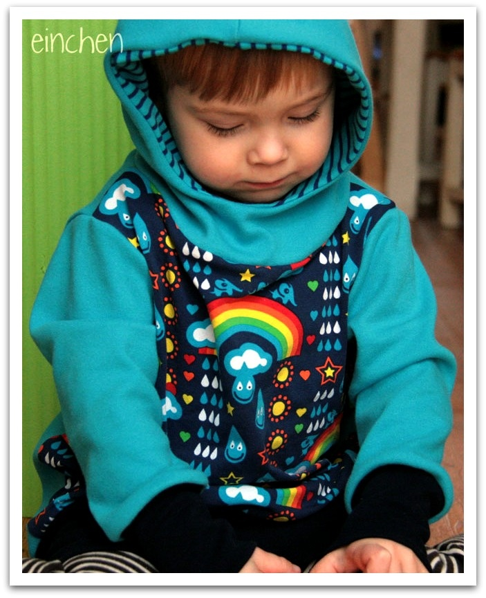 Doppelnaht: pauleplatsch rainbowphant lillestoff regenbogen regentropfen