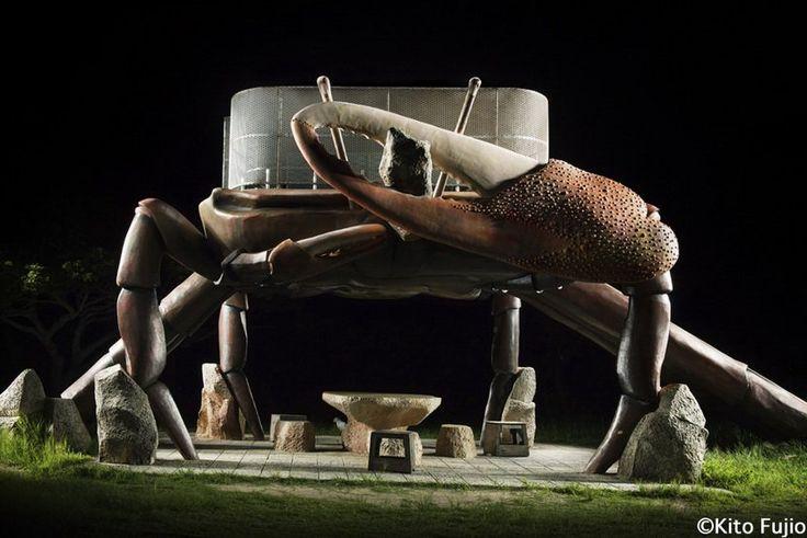 木藤富士夫鏡頭下的「公園遊具」,夜攝日本各地水泥玩樂設施的獨特氣氛