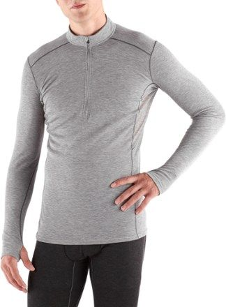 KUHL Men's Akkomplice Zip-Neck Long Underwear Top Ash XL
