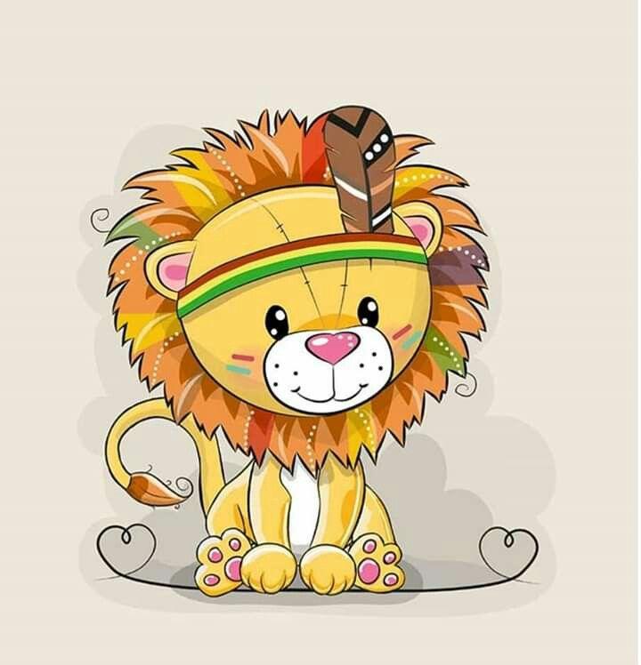 марьянова милые картинки льва рисунки представляем вашему вниманию
