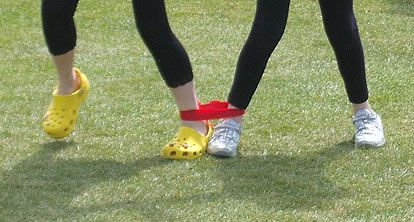 Three legged race is great fun for sports days, party's and family fun events. Velcro leg ties suitable for children and adults are available at http://www.bishopsport.co.uk/athletics-agility/three-legged-race-ties.html