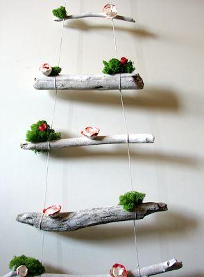 allestimenti eco per vetrine - albero di natale-Natale: decorazioni eco, eco friendly christmas decorations  di Alessandra Fabre Repetto