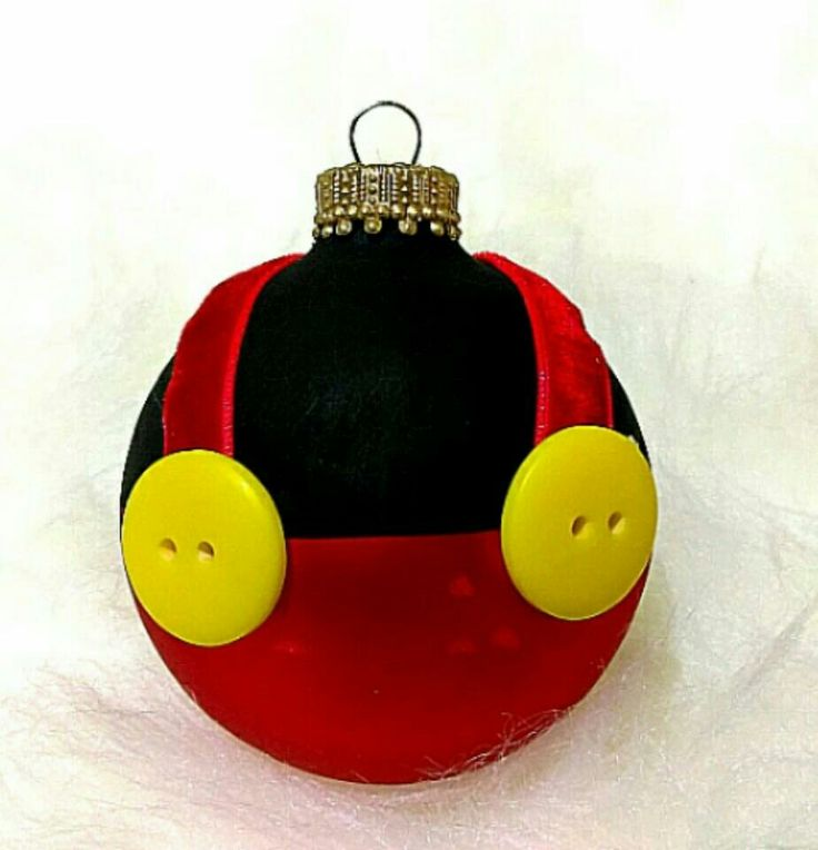 Hand painted Mickey ornament