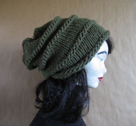 Knit Hat  Chunky Knit  Womens Hat  Beanie  Knit by recyclingroom, $29.00