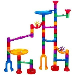 Amazon.com: Marbulous-Translucent Marble Run (48 pieces plus 16 marbles): Toys & Games