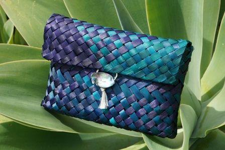 Flax Weaving - Wedding clutch