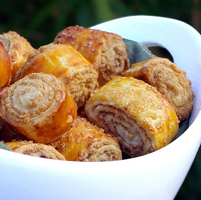 Nazook - an Armenian layered pastry that's buttery with a sweet filling.