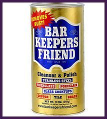 how to clean shower doors with bar keepers friend